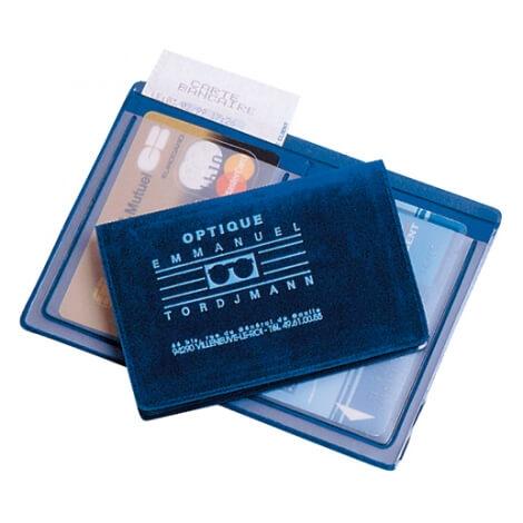 Etui 2 cartes avec poche facturette