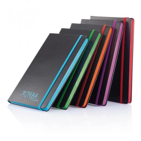 Carnet de notes publicitaire A5 avec bord coloré