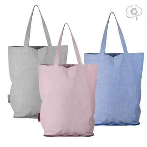 Tote bag pliable personnalisé en coton recyclé - Reeco