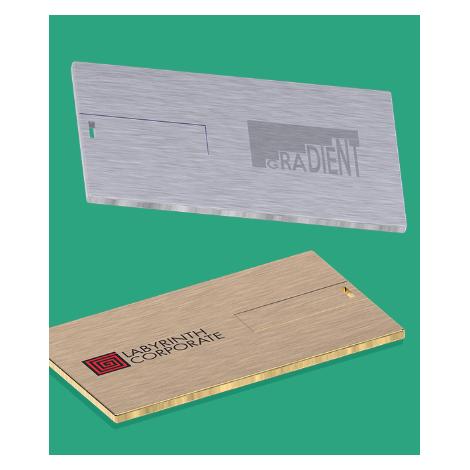 Clé USB carte de crédit en métal personnalisable