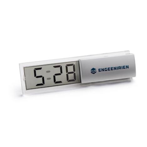 Horloge publicitaire avec alarme