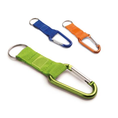 Porte-clés publicitaire avec mousqueton