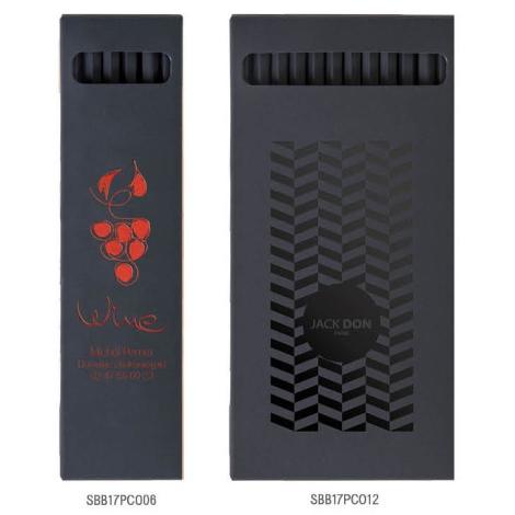 Étui crayons de couleur publicitaire 17,6 cm - Hexa Black