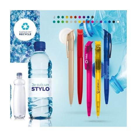 Stylo publicitaire en plastique recyclé