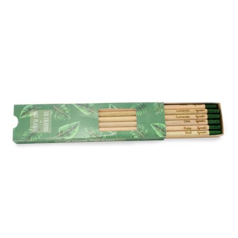 Coffret publicitaire de 6 crayons à graines