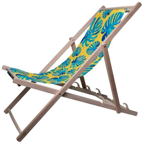 Chaise longue en bois publicitaire - MANDALAY