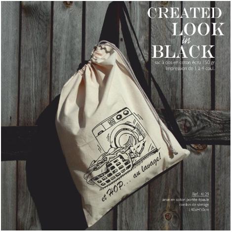 Sac à dos publicitaire en coton - Black