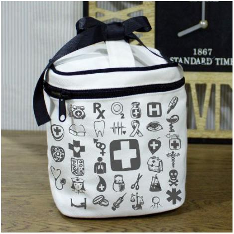 Trousse cosmétique publicitaire coton blanchi 420 g - Black