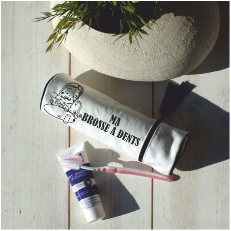Trousse publicitaire en coton blanchi 420 gr - Black