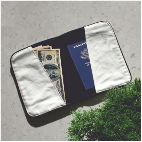Pochette voyage publicitaire coton 420 g - Black