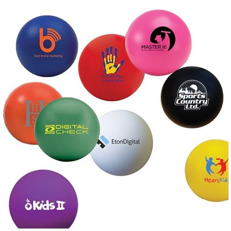Balle anti-stress publicitaire colorée