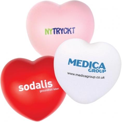 Balle anti-stress publicitaire - Coeur