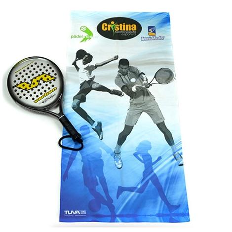 Serviette de sport et loisir publicitaire en microfibre