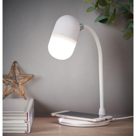 Lampe bureau publicitaire haut parleur et chargeur - Capusla