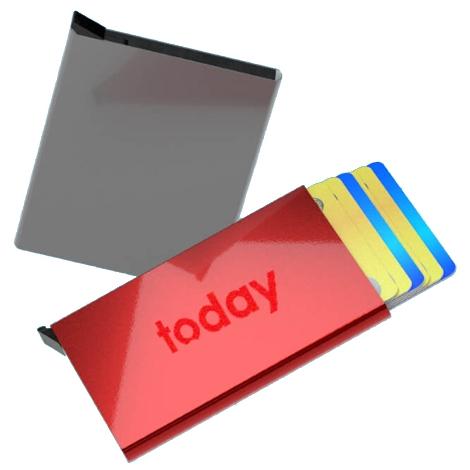 Porte-cartes publicitaire avec bloc RFID