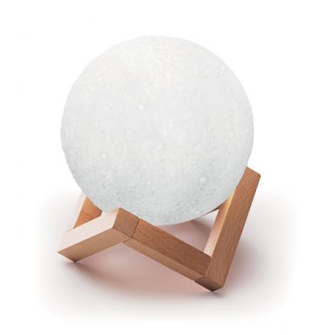 Lampe et haut parleur en forme de lune publicitaire