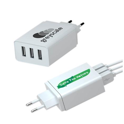 Chargeur multiprise publicitaire 3 USB