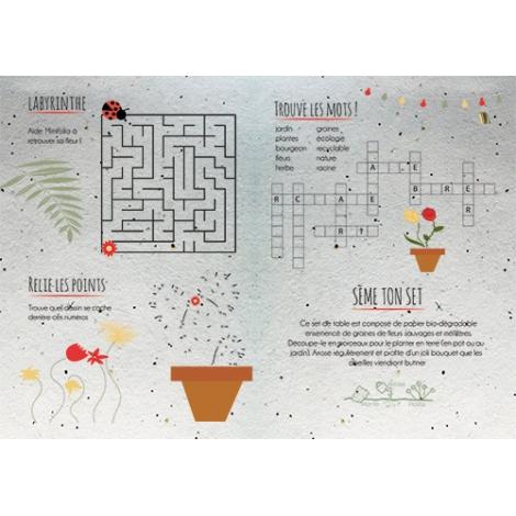 Set de table publicitaire avec graines