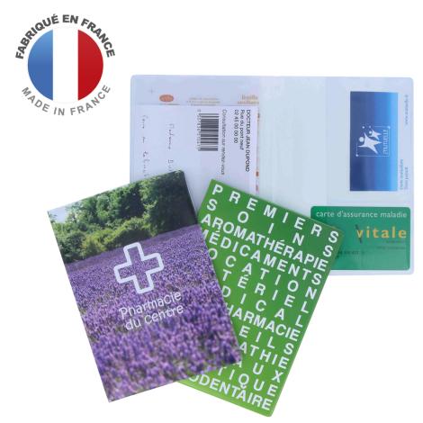 Garde ordonnances publicitaire portefeuille 1 carte