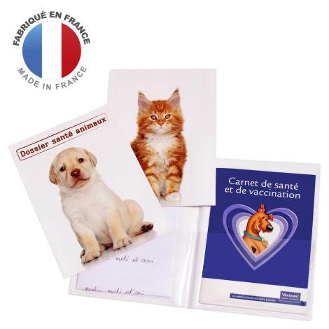 Pochette publicitaire pour carnet de santé animaux