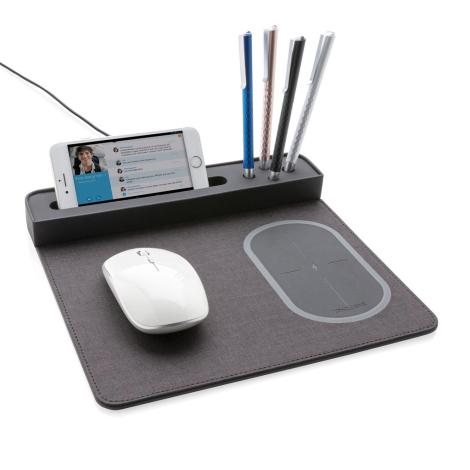 Tapis de souris avec chargeur induction publicitaire