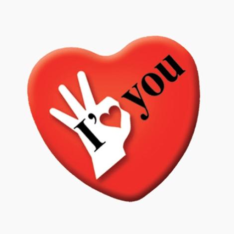 Badge publicitaire cœur avec épingle ou aimant
