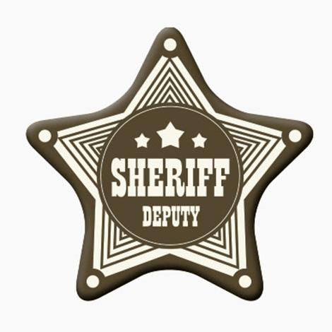 Badge publicitaire étoile avec épingle ou aimant
