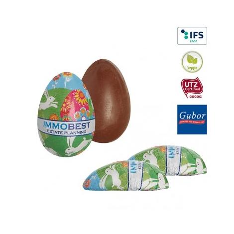 Oeuf de Pâques publicitaire en chocolat