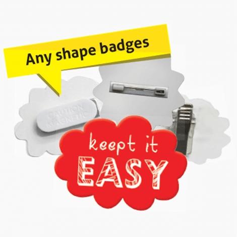 Badge personnalisé en plastique