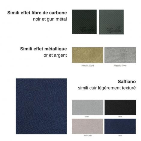 Carnet publicitaire simple cuir