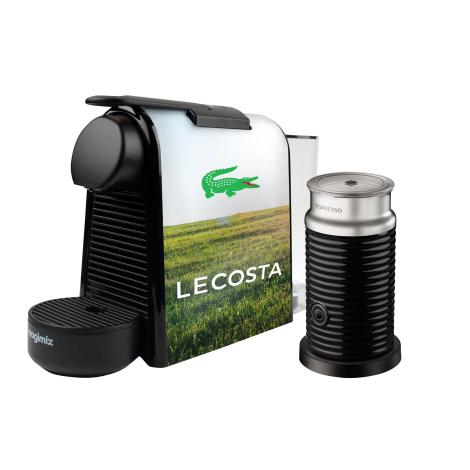 Machine à café publicitaire - Nespresso Essenza Mini + Aeroccino