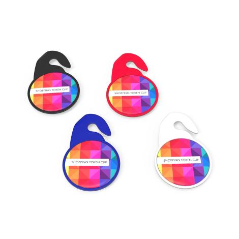 Jeton publicitaire de caddie - Key Ring Shopping Token Clip