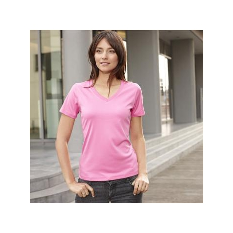 Tee-shirt publicitaire respirant col V