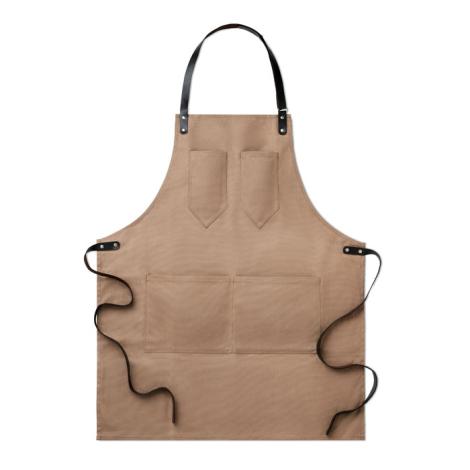 Tablier publicitaire en toile enduite et cuir - Chef