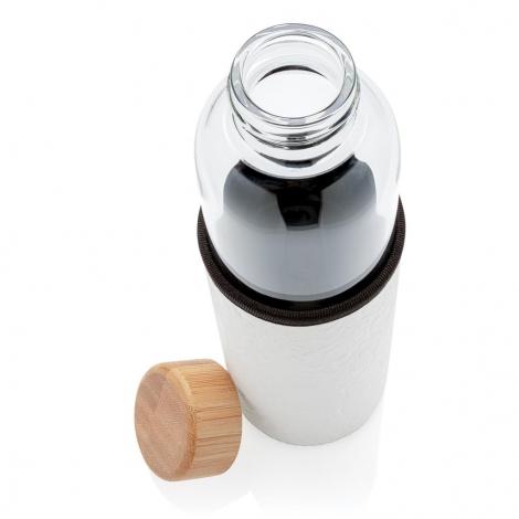 Bouteille en verre promotionnelle avec housse 550 ml