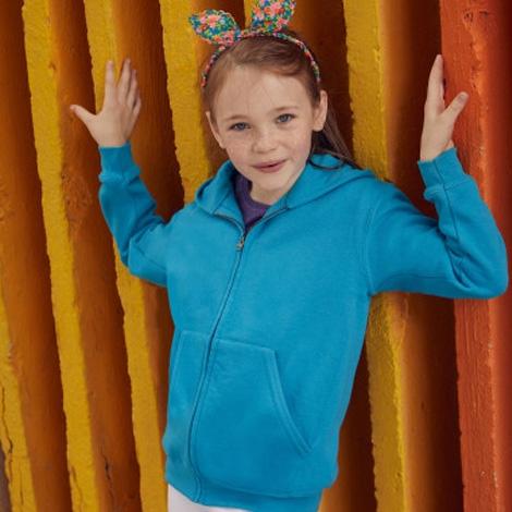 Veste zippée à capuche publicitaire pour enfant 280 gr