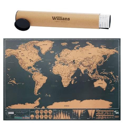 Carte du monde à gratter publicitaire - BEEN THERE