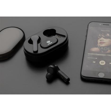 Écouteurs publicitaires avec logo lumineux