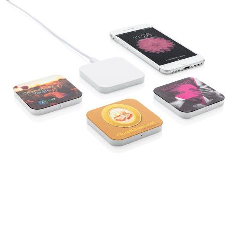 Chargeur publicitaire sans fil carré 5W