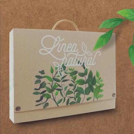 Valisette personnalisable en carton recyclé naturel