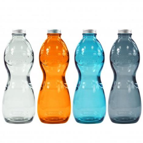 Bouteille publicitaire en verre recyclé 1L - Glouglou