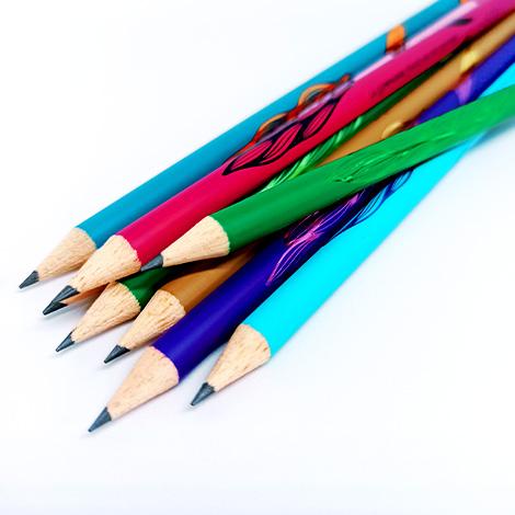 Crayon bois publicitaire rond vernis couleur - Eco 17,6 cm