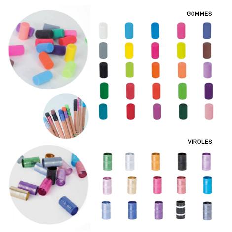 Crayon personnalisable rond sans vernis - Eco 17.6 cm