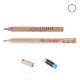 Crayon publicitaire - Prestige naturel vernis incolore rond 8.7 cm