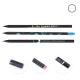 Crayon en bois personnalisable rond - Prestige Black 17,6 cm
