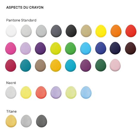 Crayon personnalisé hexagonal vernis Pantone - Eco 17,6 cm
