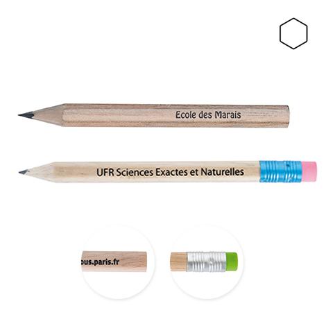 Crayon publicitaire hexagonal sans vernis - Eco 8,7 cm