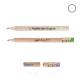 Crayon de bois personnalisé rond sans vernis - Eco 8,7 cm