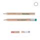 Crayon publicitaire hexagonal vernis incolore - Eco 8,7 cm