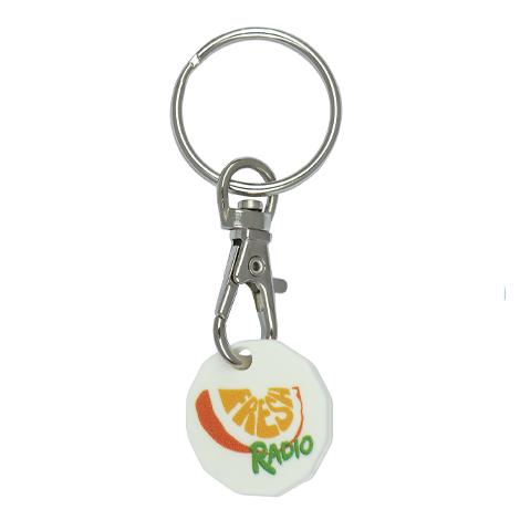 Porte-clés jeton pour caddie promotionnel